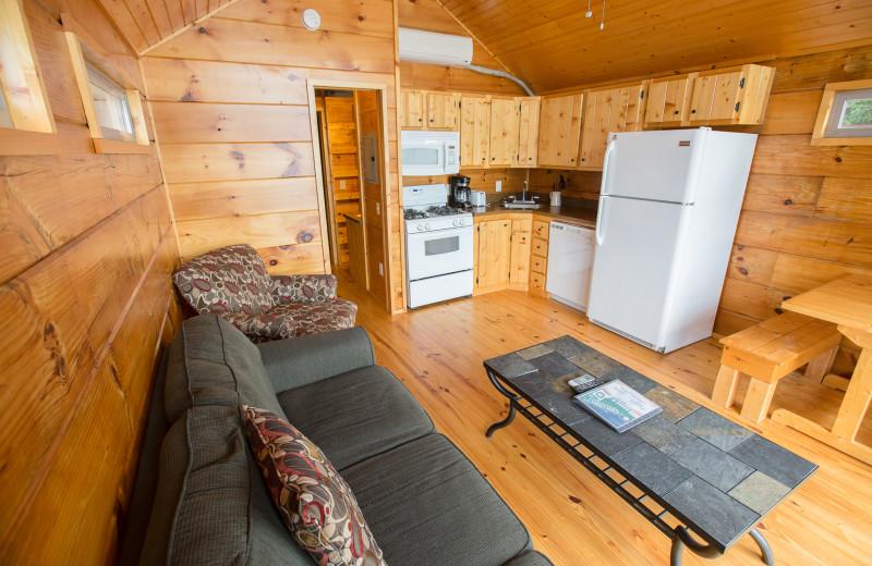Cabin interior at Edinboro Lake Resort.