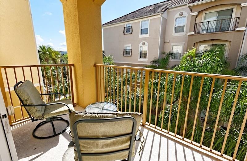 Vacation rental balcony at Vista Cay Inn.