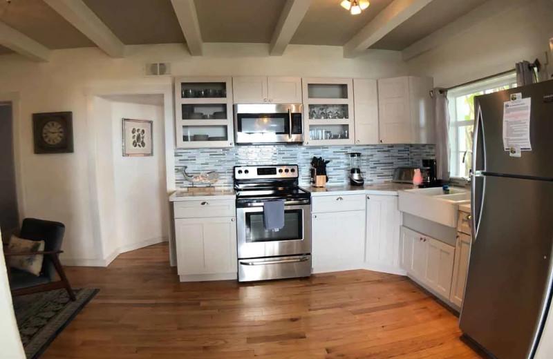 Rental kitchen at Sunset Beach Resort.
