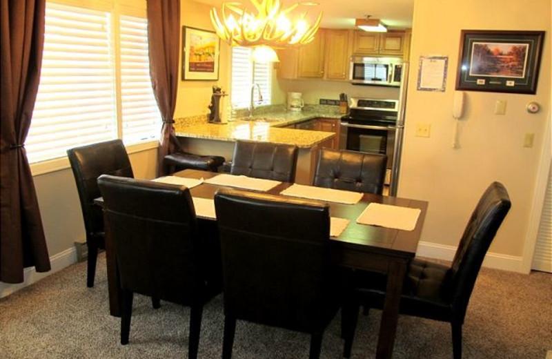 Dining room at Highridge Condominiums.