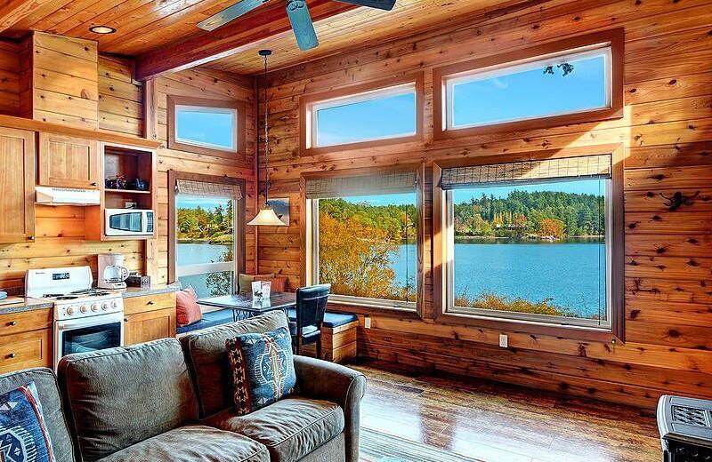 Cabin interior at Snug Harbor Marina Resort.
