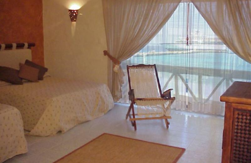 Guest room at Vista del Mar Boutique Hotel.