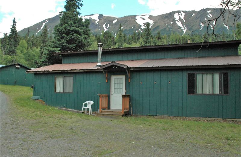 Cabin 15 Alder Lower exterior at Gwin's Lodge & Kenai Peninsula Charter Booking Service.