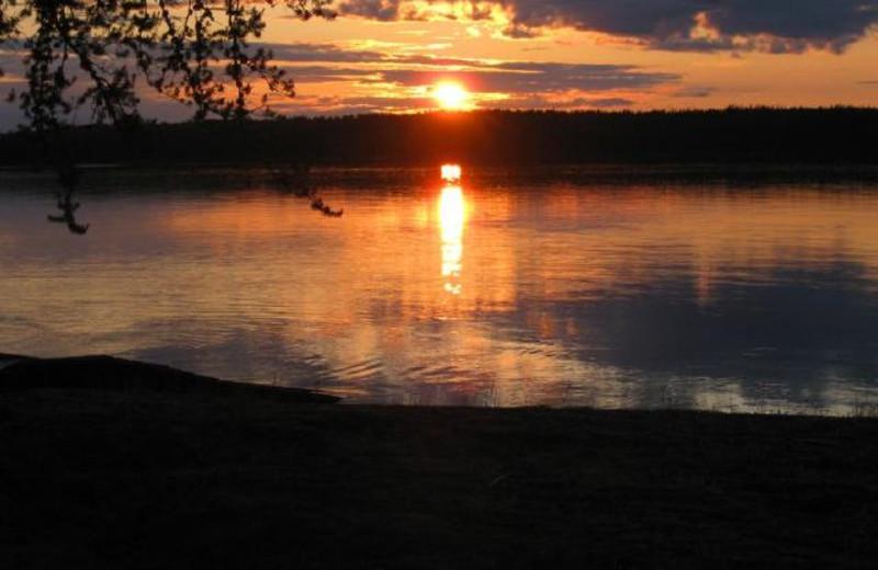 Sunset at Uchi Lake Lodge.