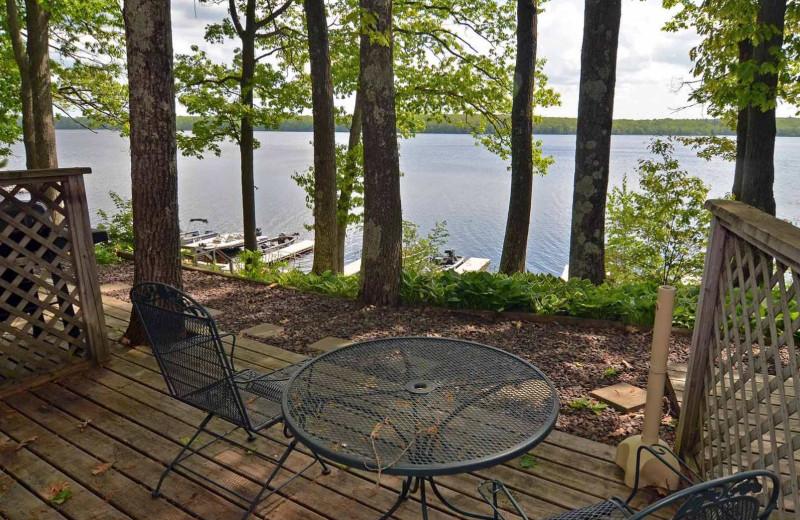 Lake view at Oak Shores Resort.