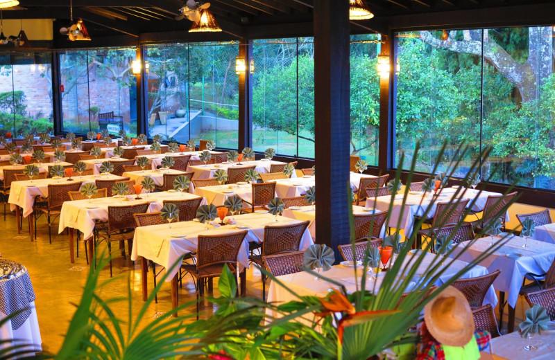 Dining at Refugio Cheiro De Mato.