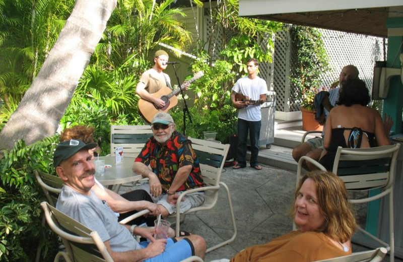 Entertainment by the pool at The Banyan Resort.