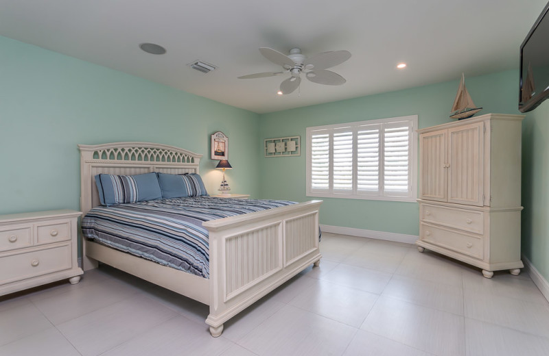 Rental bedroom at Florida Keys Vacation Rentals.