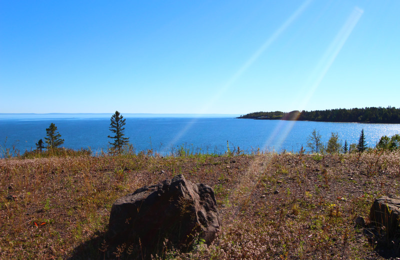 Lake view at Superior Shores Resort.