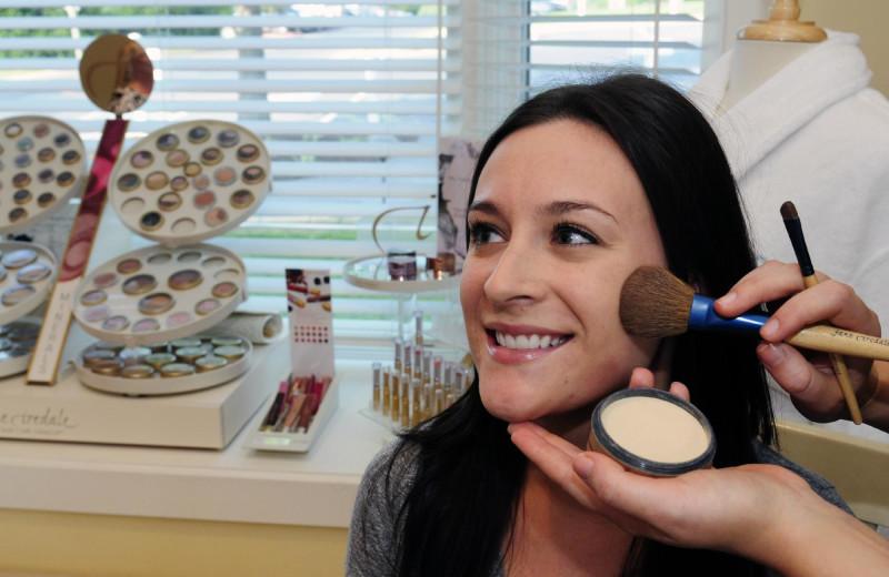 Professional make up at Massanutten Resort.