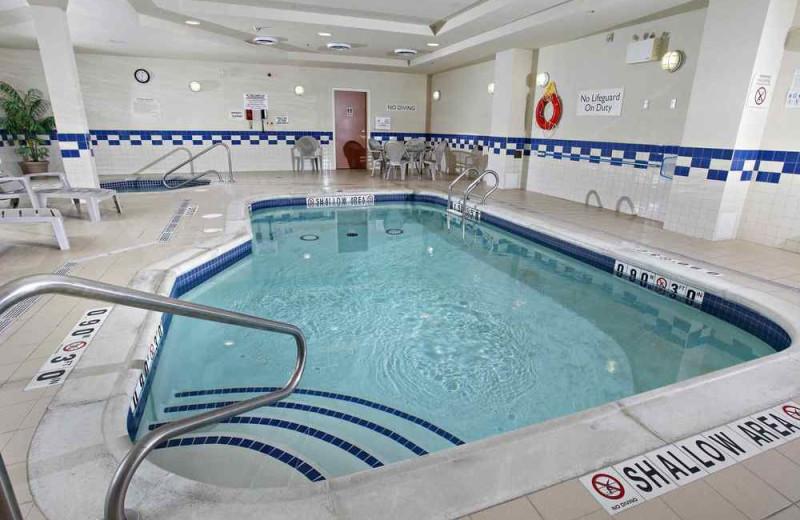 Indoor pool at Fairfield Inn & Suites Sudbury.