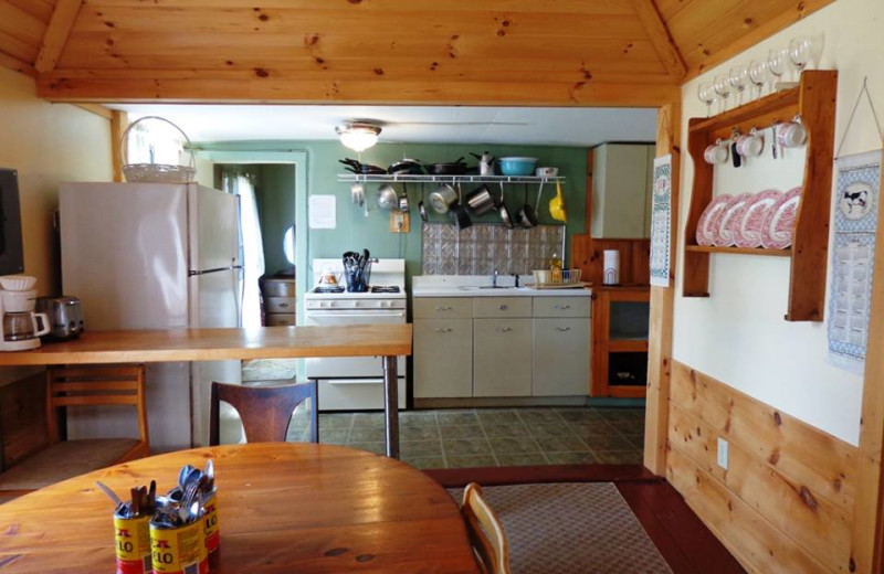 Cottage kitchen at HighWinds Lodge & Cottages.