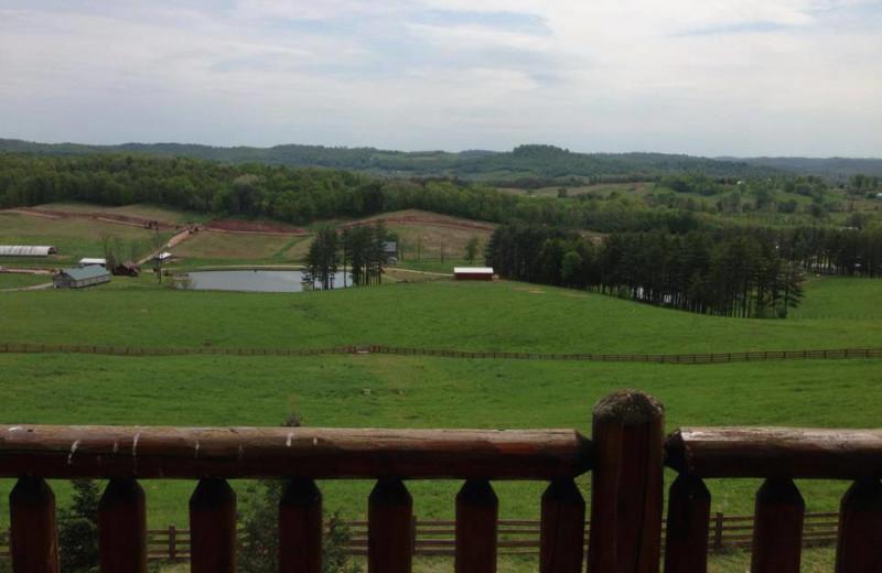 Balcony view at Pine Lakes Lodge.