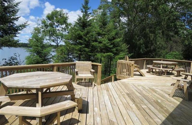 Rental deck at Lakeland Rental Management.