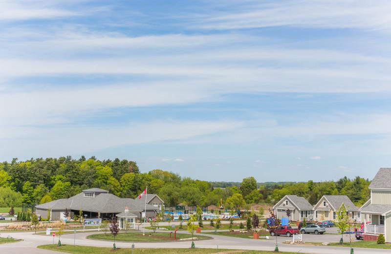 Exterior view of Sandbanks Summer Village Cottage Resort.