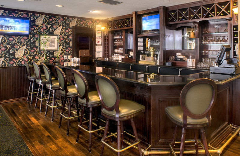 Bar at The Lighthouse Inn at Aransas Bay.