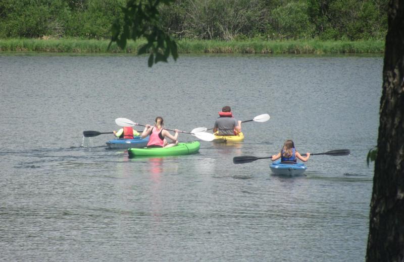 Kayaking at Rising Eagle Resort.