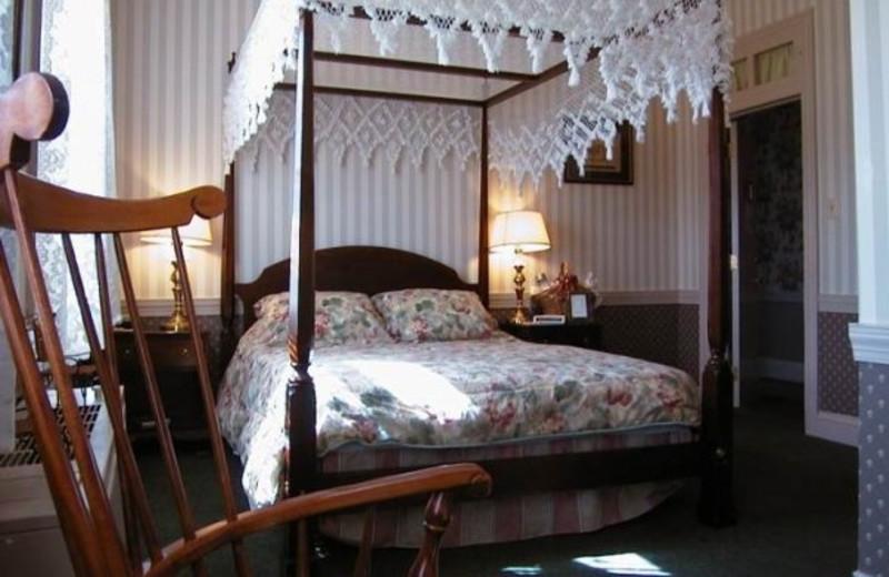 Guest room at Brick Hotel & Restaurant.