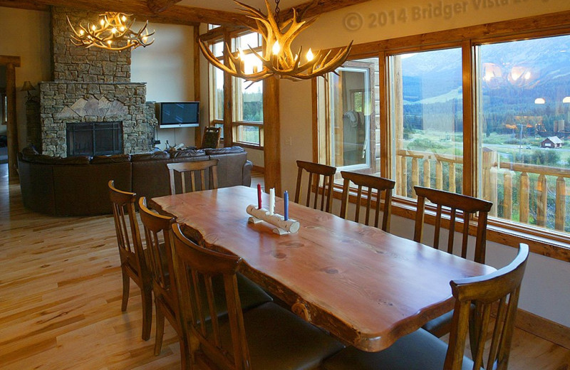 Dining room at Bridger Vista Lodge.