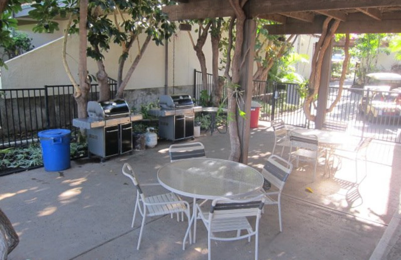 Outdoor patio at Maui Kamaole.