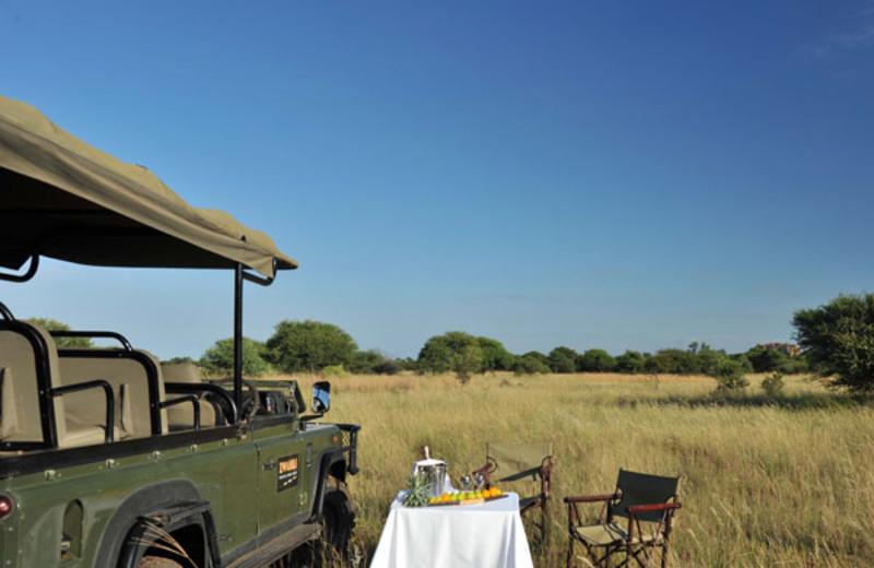 Dining at Zwahili Game Lodge.