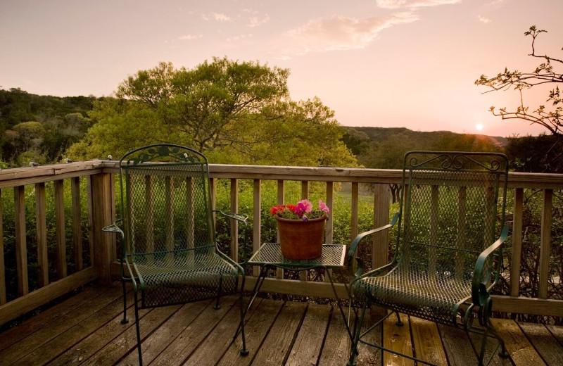 Guest balcony at Blair House Inn.