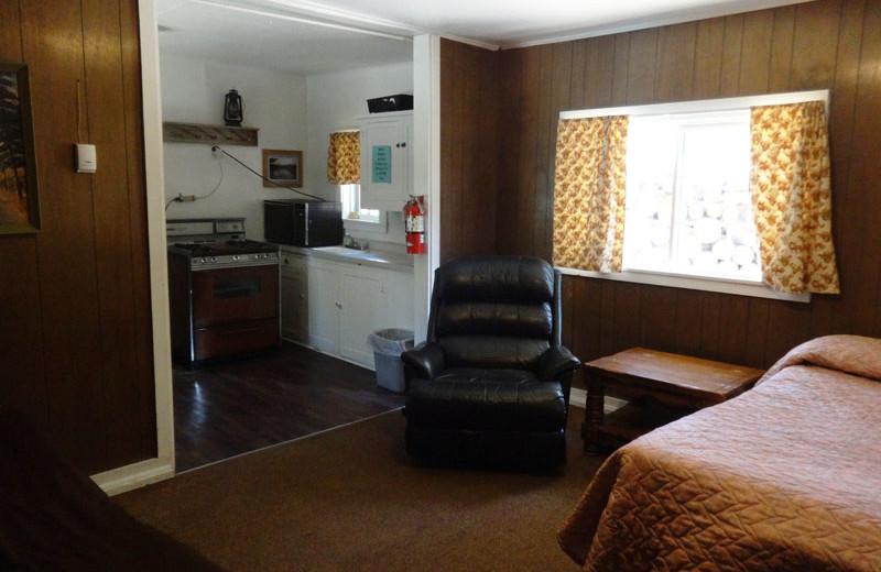 Cabin interior at North Shore Lodge & Resort.