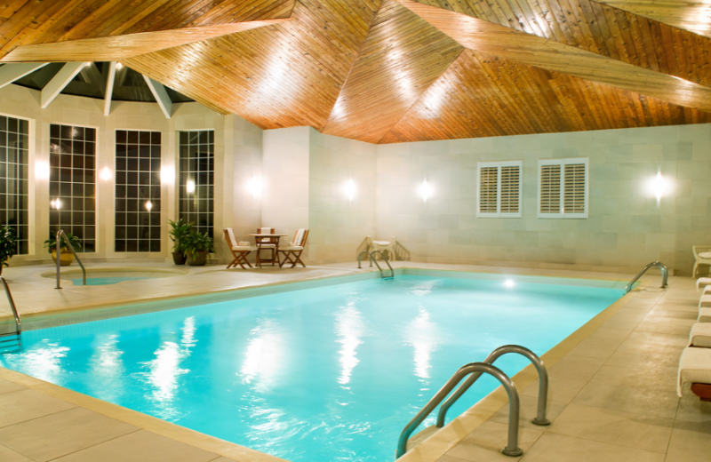 Indoor pool at Manoir Saint Sauveur.