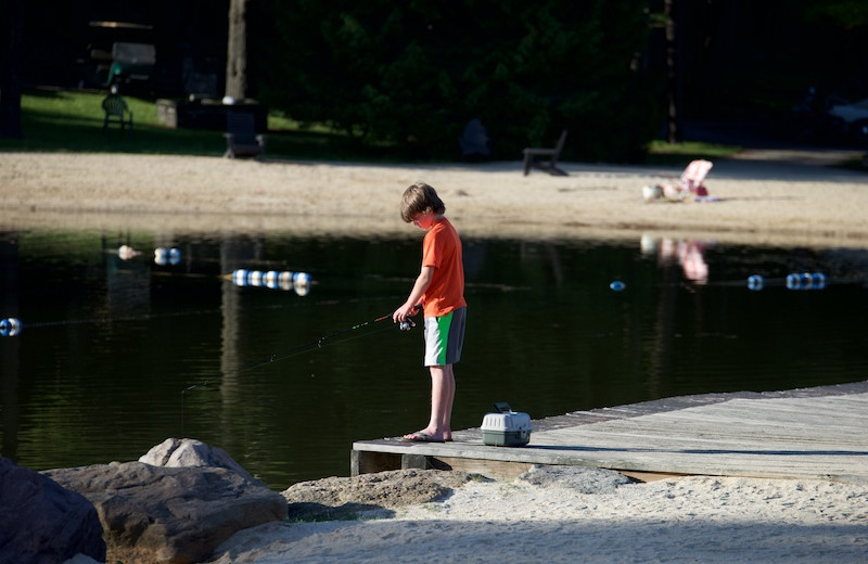 Fishing at Split Rock Resort & Golf Club.
