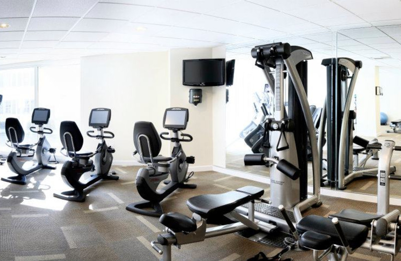 Fitness room at The Reach Resort.