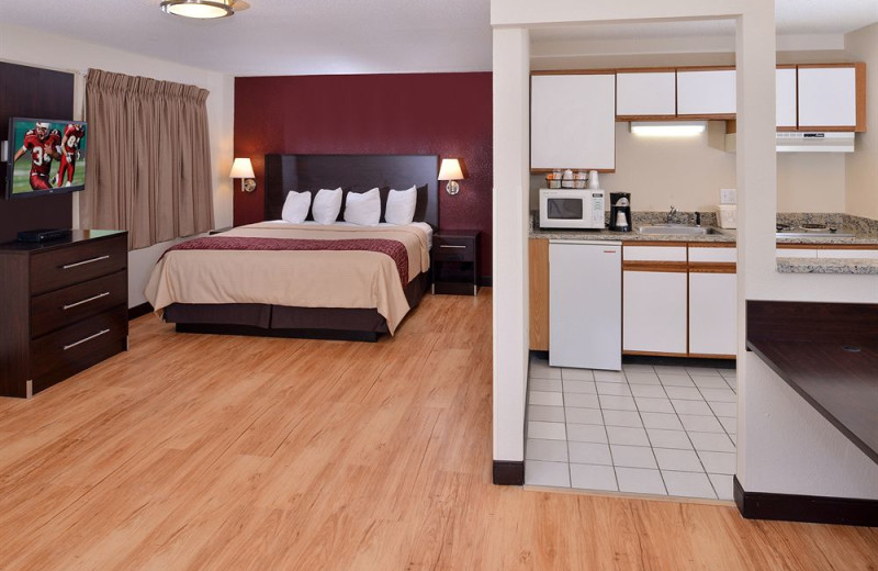 Guest room at Red Roof Inn PLUS+ & Suites Guilford Guilford.