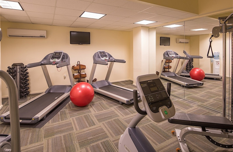 Fitness center at Westport Inn.