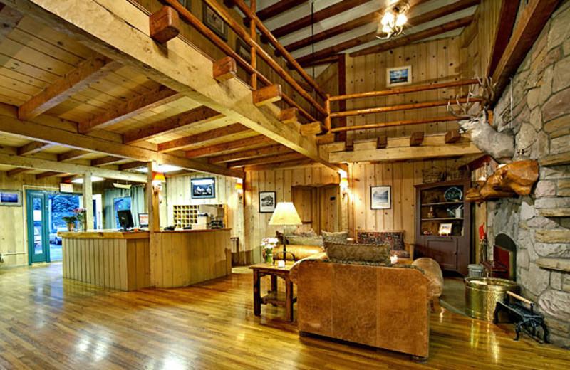The lobby at Jackson Hole Lodge.