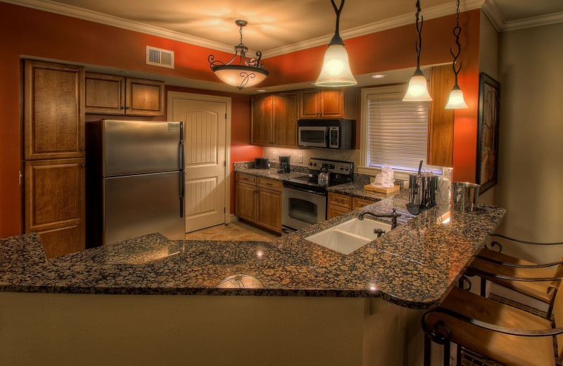 Guest kitchen at RiverStone Resort & Spa.
