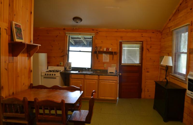 Cottage kitchen at Twin Pines Resort.