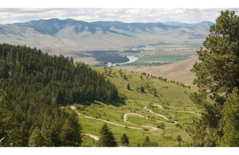 Scenic views near Ninepipes Lodge.