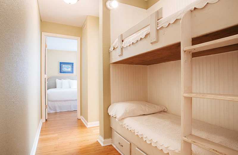 Guest bunk beds at The Winds Resort Beach Club.