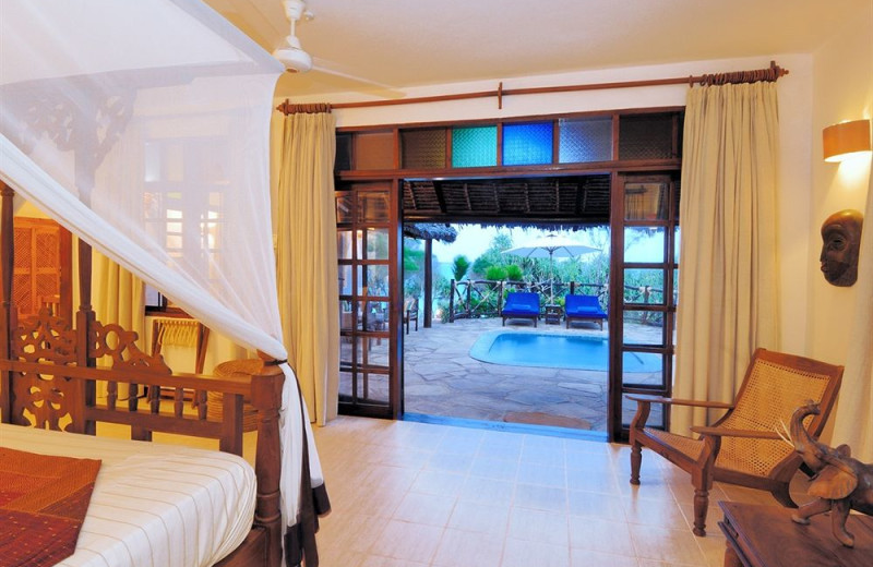 Guest suite at Ras Nungwi Beach Hotel.