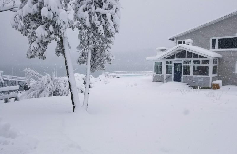 Winter at Linekin Bay Resort.