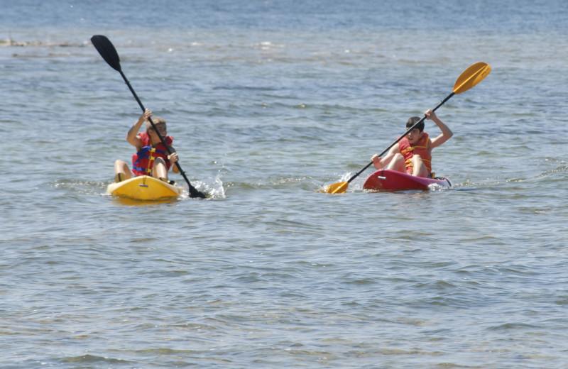 Kayaking at The Shallows Resort.