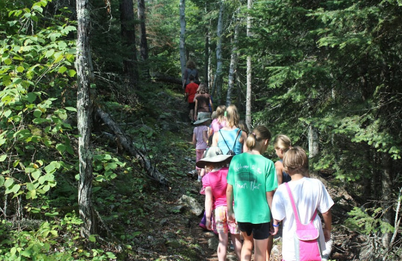 Camp Twain Nature Hike at Black Bay.