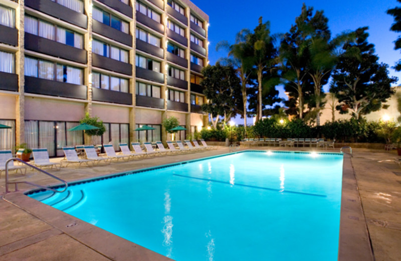Outdoor pool at Clarion-Anaheim Resort.