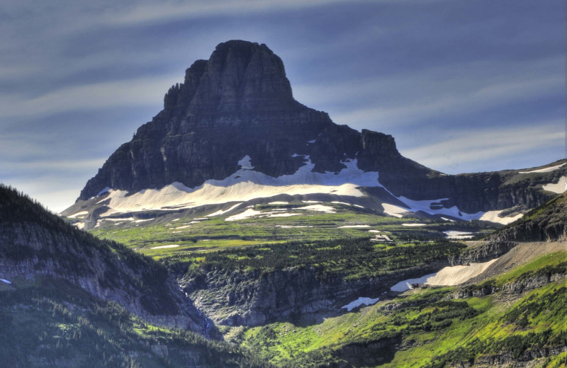 Hiking within Glacier National Park.