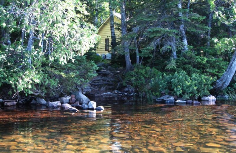 Waterfront cabin at Trout Lake Resort.