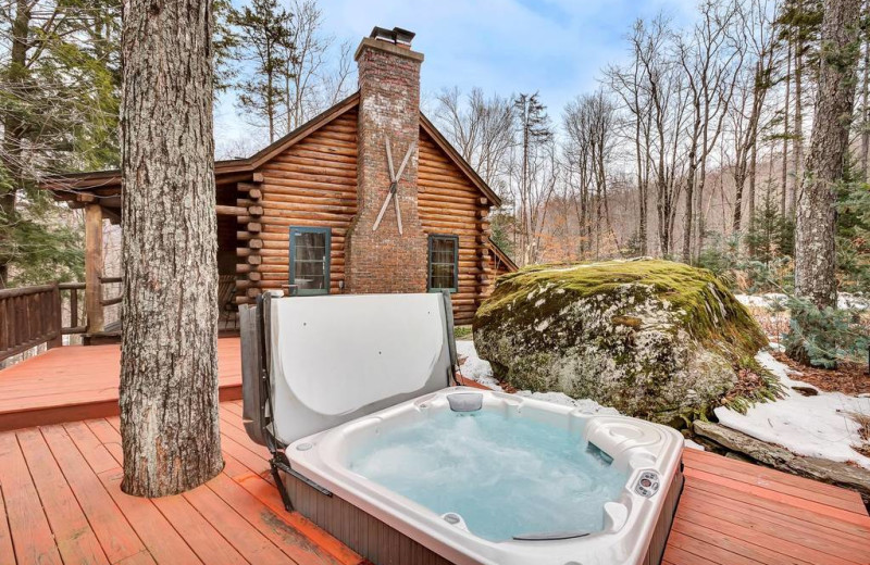 Rental  hot tub at Killington Rental Associates.