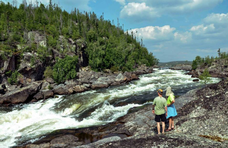 Waterfall at Churchill River Canoe Outfitters.