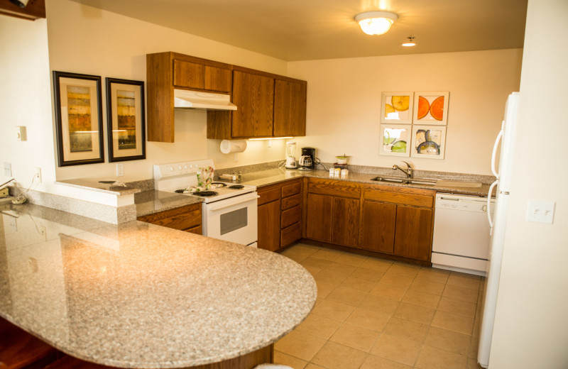 Guest kitchen at Adobe Resort.