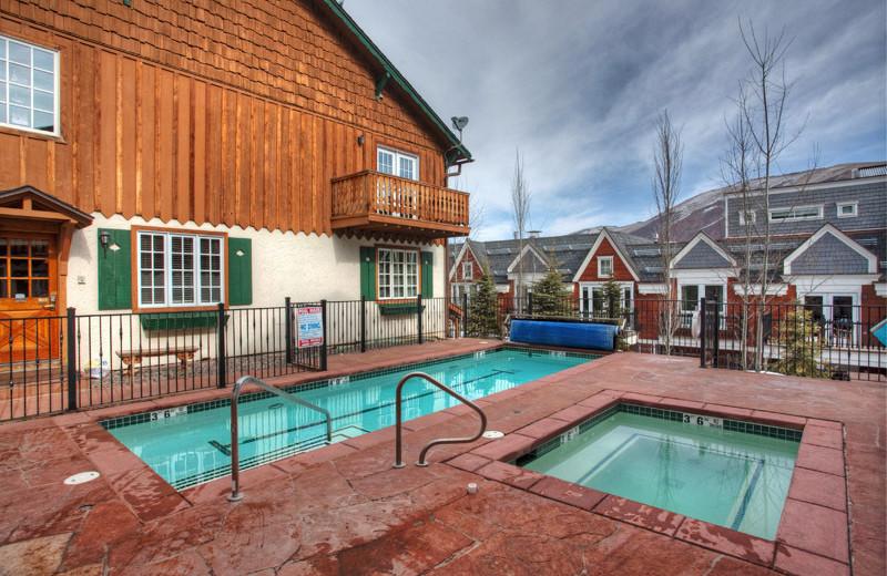 Rental outdoor pool at Frias Properties of Aspen - Alpenblick #11.
