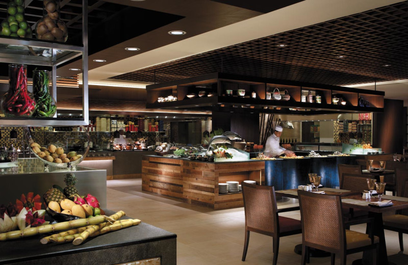 Dining at Shangri-La's Rasa Sayang Resort.