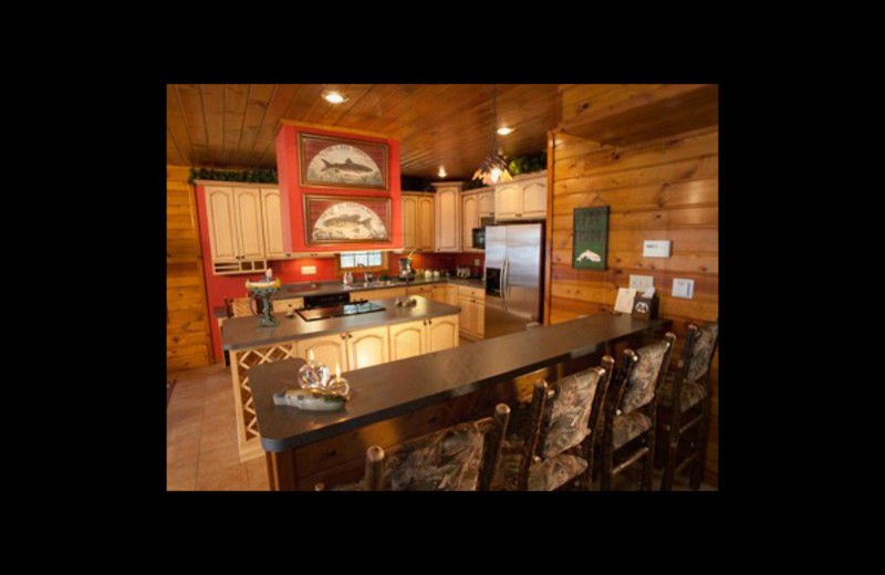 Guest kitchen at Chippewa Retreat Resort.
